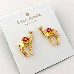 Kate Spade Spice Things up Camel Enamel Earrings
